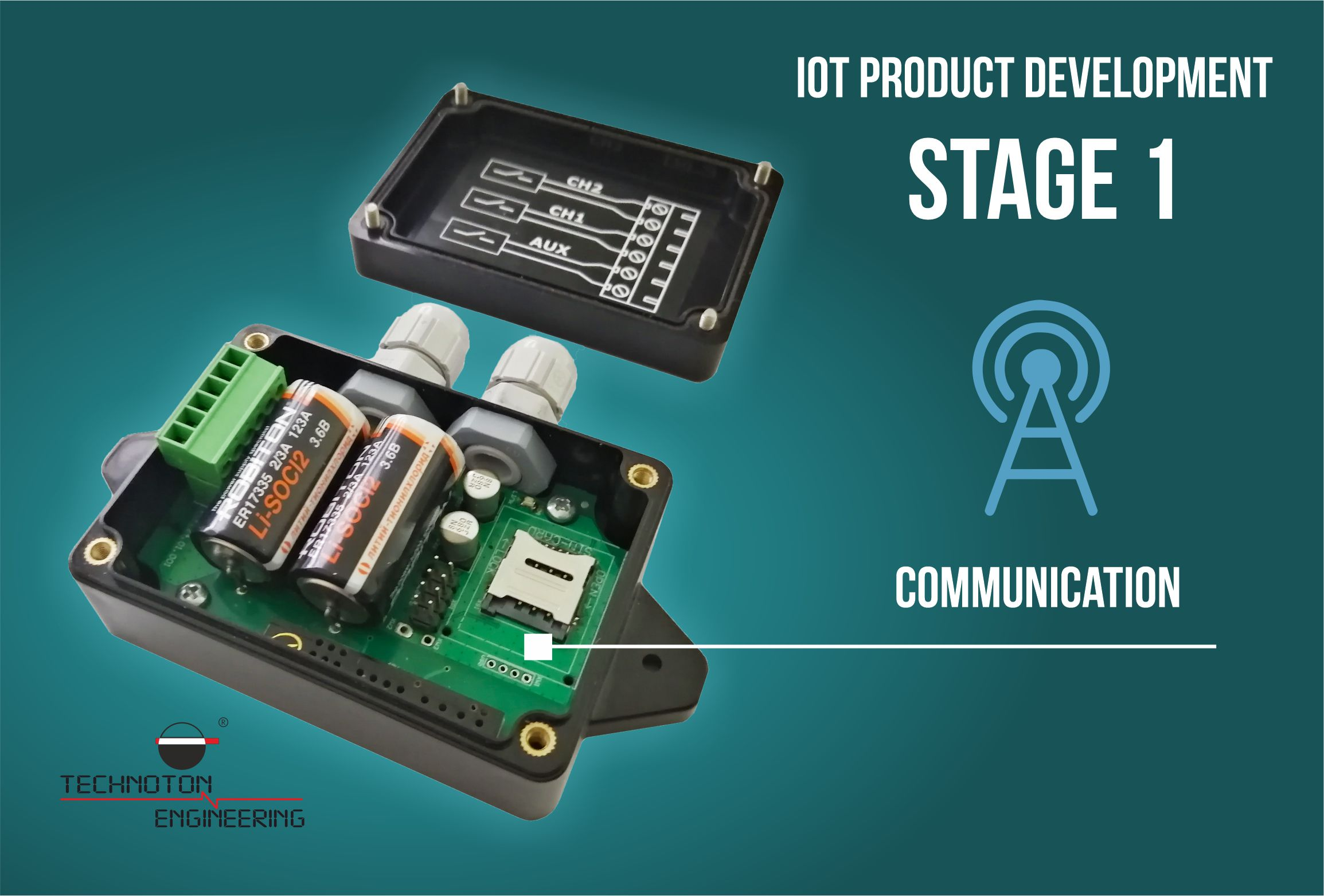 Communication stage for IoT product